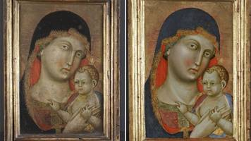 medieval portrait of virgin mary and christ's double-sided secret