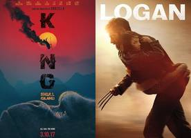 'kong: skull island' roars with $61 million at box office, logan drops to second place