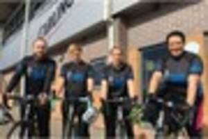 watch: burton albion team to ride 145 miles to amsterdam to help...
