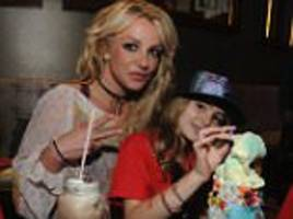 britney spears and family enjoy over-the-top shakes