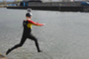 dramatic life-saving rescue filmed on exeter quay