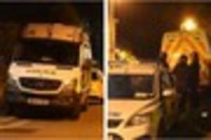 Police incident in Exeter - officers force entry into home