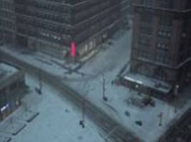 Time-lapse video shows snow falling in New York City