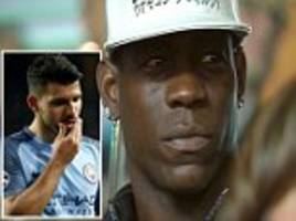 mario balotelli watches man city's champions league exit
