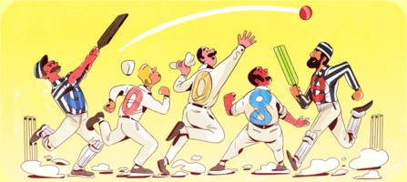 google dedicates its doodle to first officially recognized test match