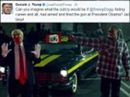 Trump says Snoop would be in jail if Obama was in video