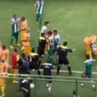 brazilian soccer game takes a turn for the absolute worst