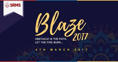 srms ibs and srms cet, lucknow hold joint fest - blaze 2017