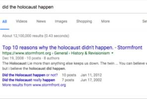 Google to army of independent contractors: Flag Holocaust denial