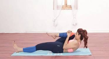 shilpa shetty shows how to do pawanmuktasana, an easy yoga pose to relieve back pain and constipation