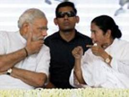 mamata disappointed after modi's victory in uttar pradesh