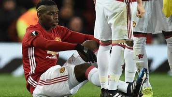 Paul Pogba: Manchester United midfielder ruled out with hamstring injury