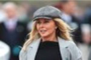 carol vorderman flies into cheltenham races in style