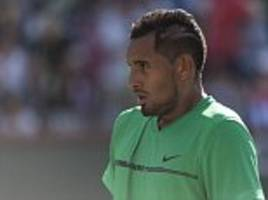 nick kyrgios out of indian wells with food poisoning