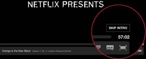 some lucky netflix members have a cool new 'skip intro' button to make binge-watching better