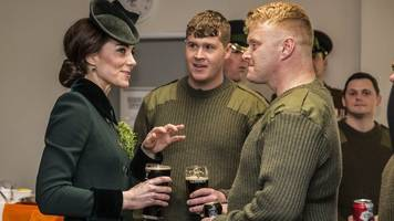 Duke and duchess toasted with Guinness on St Patrick's Day