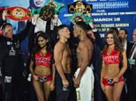Gennady Golvokin and Daniel Jacobs weigh in before fight