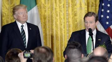 irish leader gives trump a history lesson with immigration remarks