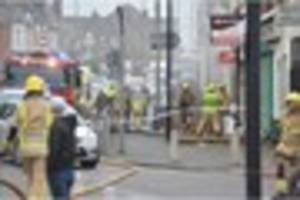 VIDEO: Man rescued from Cobridge flat on busy road after fire...