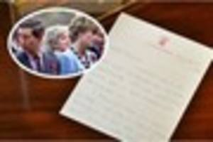 Princess of Wales letters from early married years set to go...