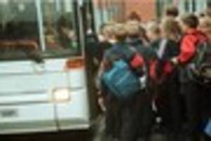 Cost of bus travel for children going to church schools in Bath...