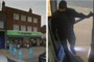 This man is wanted after a knife-point robbery at a Dartford shop