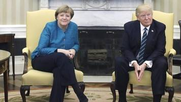 President Trump meets Chancellor Merkel for the first time