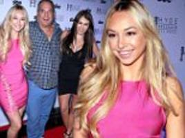 corinne olympios brings family to st. patrick's day party