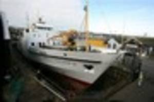 here's how scillonian iii is getting ready to ferry passengers...