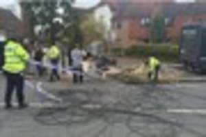 dramatic pictures show aftermath of crash between lorry and car...