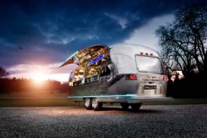 Drinks on the go: This Airstream trailer houses a full bar, and you can rent it