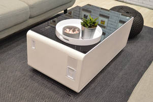 Sobro is a coffee table that can store your cold brew in its refrigerated drawer