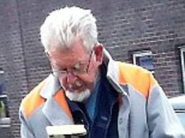 rolf harris seen in public for first time in three years