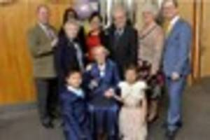 Red carpet rolled out as Irene celebrates her 100th birthday in...