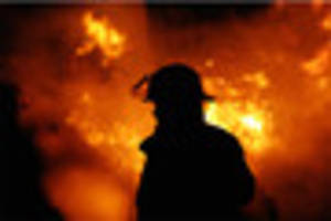 Shed destroyed by fire near Exeter