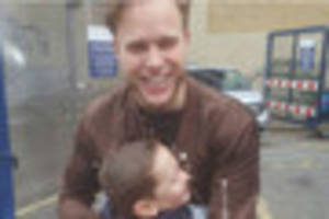 autistic boy meets hero olly murs - who helped him learn to speak