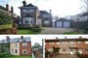 Revealed: The most and least expensive homes sold in North East...