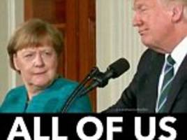 Angela Merkel's Trump side-eye goes viral
