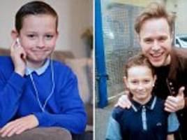 autistic boy's speech is finally triggered by olly murs cd