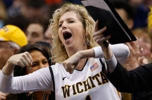 gregg marshall's wife escorted out of arena following wichita state loss