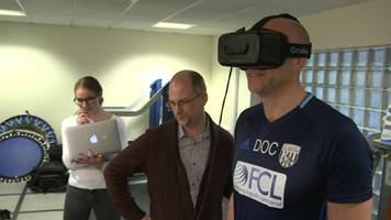 Virtual reality could spot concussion in footballers