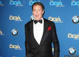 david hasselhoff goes shirtless as he films 'the knight rider' reboot