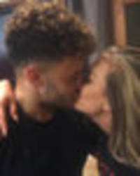 perrie edwards packs on the pda with alex oxlade-chamberlain as ex luke hits london alone