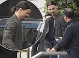 man utd star zlatan ibrahimovic makes most of his rest