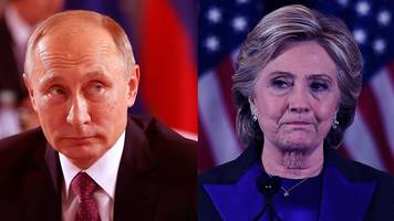 'putin hates clinton': focus on russia