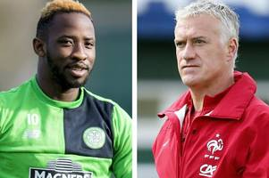 celtic ace moussa dembele urged to keep performing by france boss didier deschamps