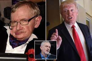Stephen Hawking slams Brexit, Jeremy Corbyn and Donald Trump in explosive interview