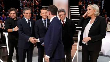 france election: leading candidates appear in tv debate