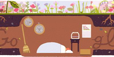 google celebrates the equinox with two doodles for the changing seasons