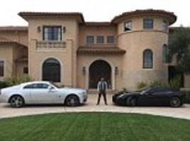 Amir Khan poses with £150k Ferrari and £240k Rolls-Royce
